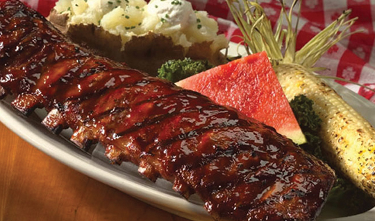 Dining at Lucille's Smokehouse BBQ