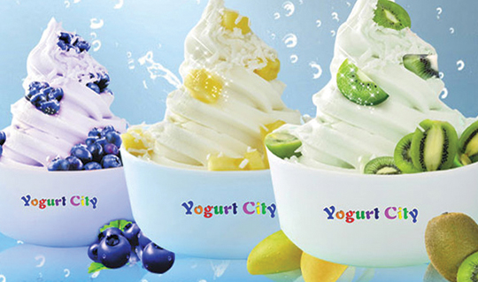 Dining at Yogurt City