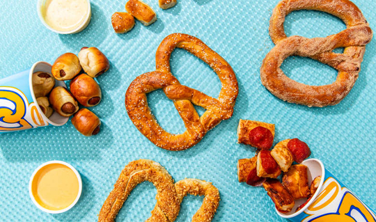 Dining at Auntie Anne's Pretzels