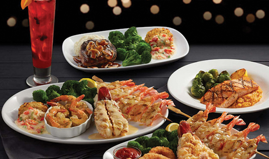 Dining at Red Lobster