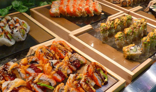 Dining at Ichiumi Sushi & Seafood Buffet Restaurant