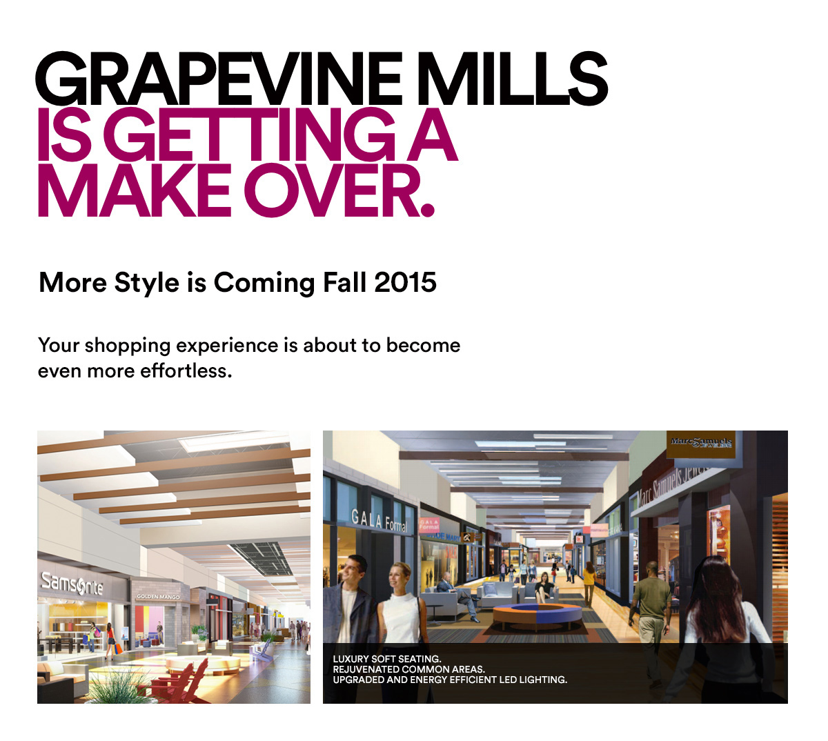 GRAPEVINE MILLS IS GETTING A MAKEOVER
