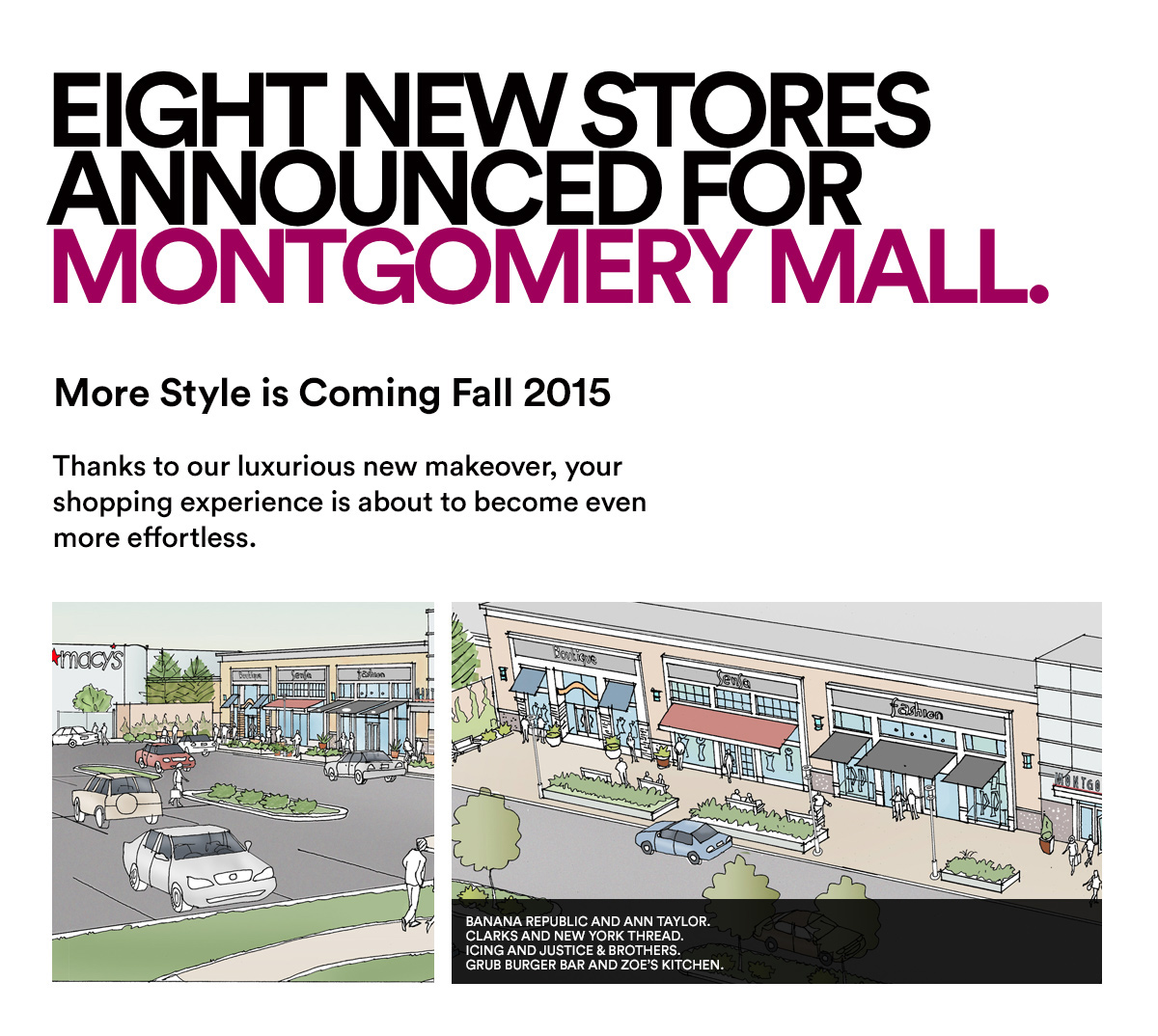 Eight New Stores Announced For Montgomery Mall