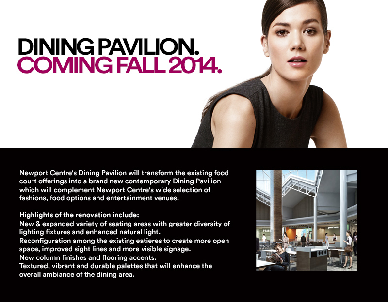 NEWPORT CENTRE DINING PAVILION COMING FALL 2014