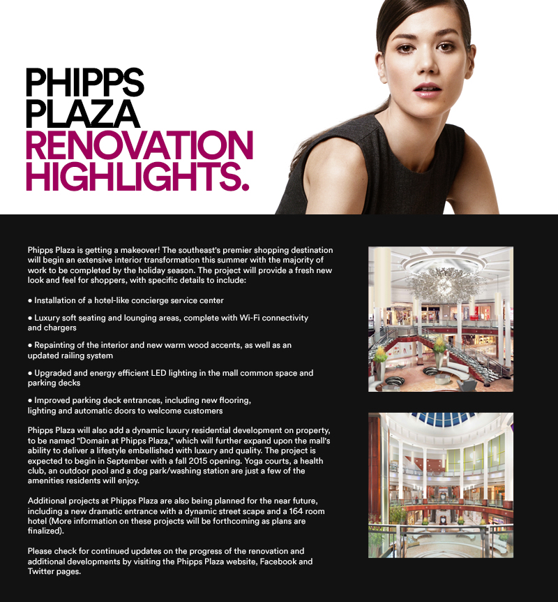 PHIPPS PLAZA RENOVATION HIGHLIGHTS