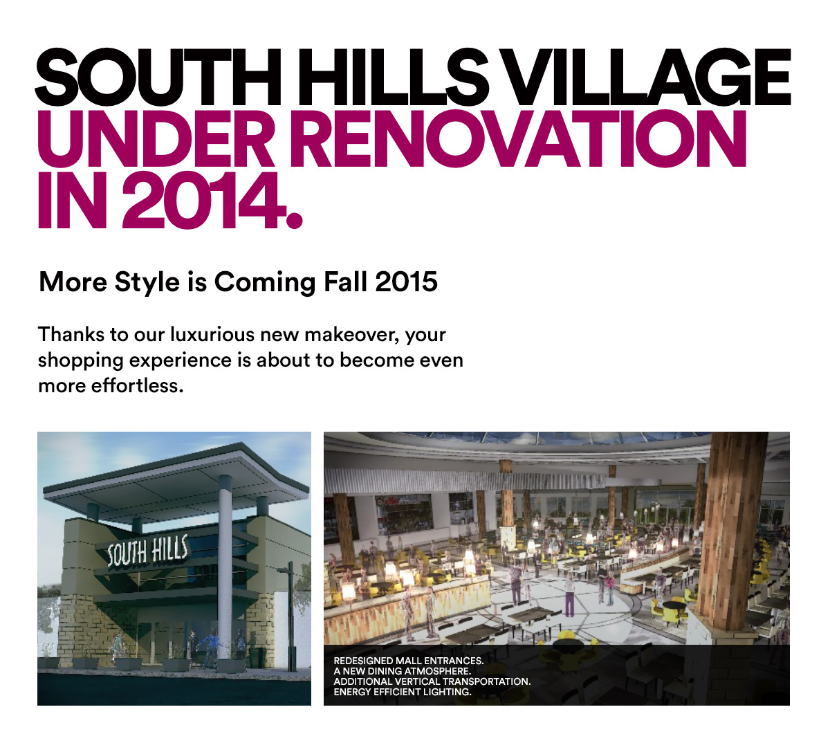 SOUTH HILLS VILLAGE RENOVATION 2014
